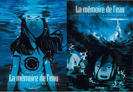 une fille en train de se noyer