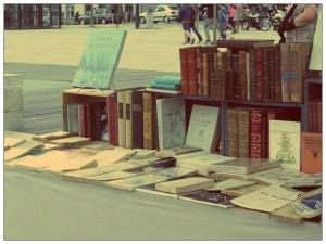 livres sur un stand