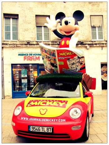 voiture du journal de mickey