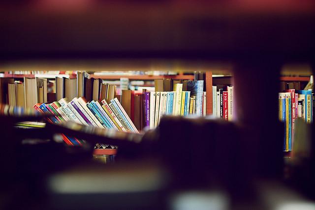 livres dans les rayons