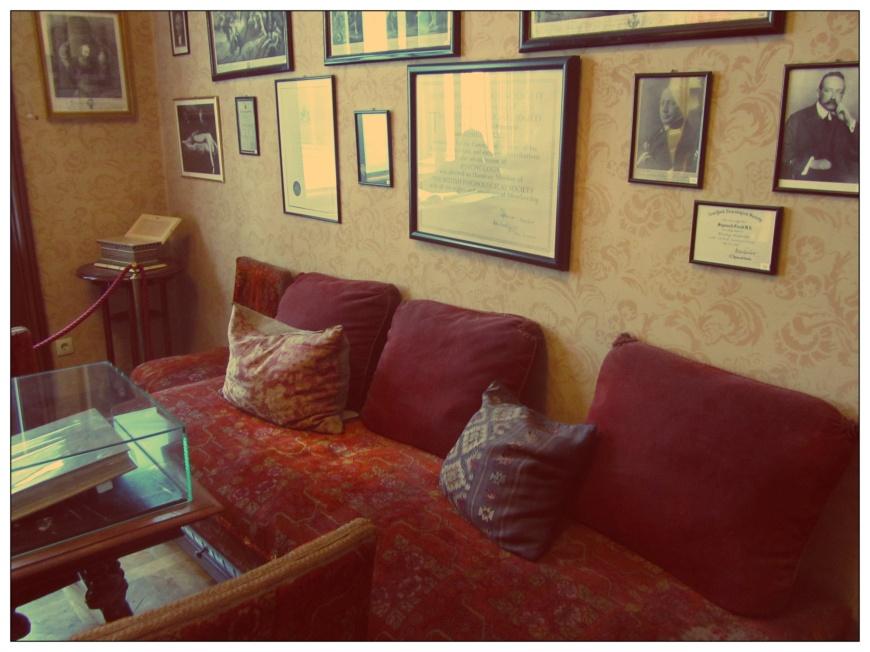 Salle d'attente du cabinet du Dr Freud